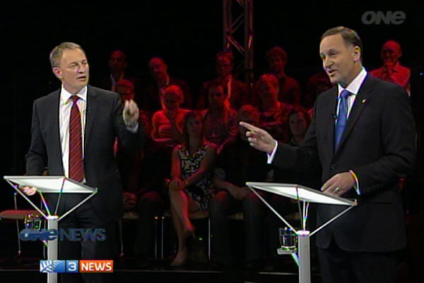Phil Goff and John Key TVNZ debate