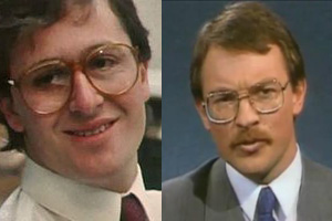 John Key and Phil Goff in the 80s
