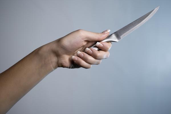 Knife brandish