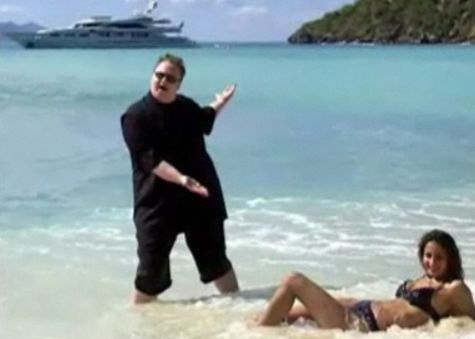 Kim Dotcom presents: A lady on a beach