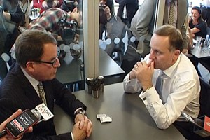 John Banks and John Key - teapot tapes leaked online