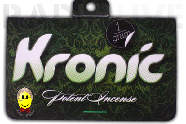 What the government approval symbol could look like in action on a packet of Kronic.