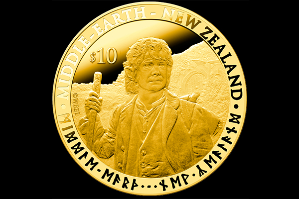 The Hobbit - Premium Gold Coin - NZ Post