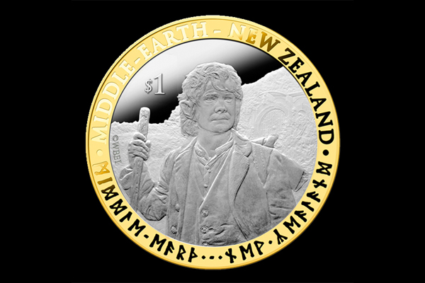 The Hobbit - Silver Coin with Gold Pla