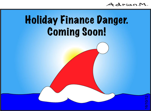 Holiday finance danger. By Adrian Maidment.