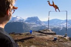 BASE jumper survives cliff fall