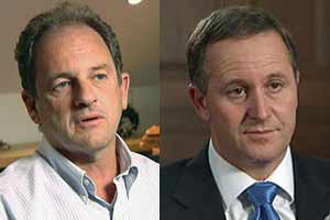 David Shearer and John Key