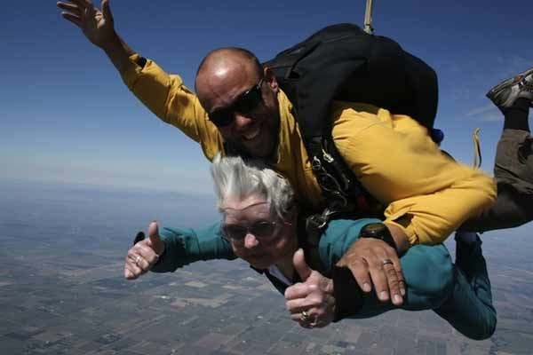 You are never too old to skydive!