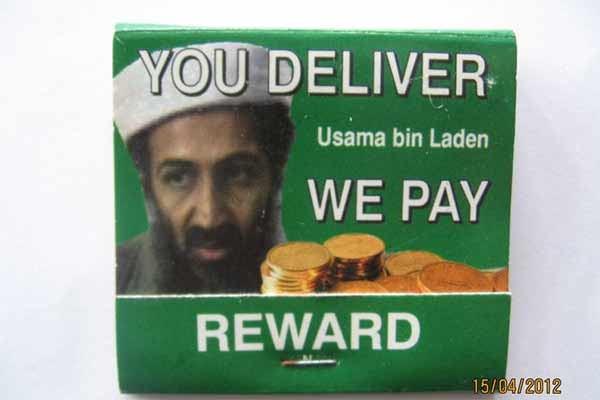 Rare Osama Bin Laden WANTED matches - Listing #: 526931871