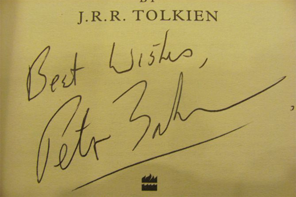 The Hobbit - signed by Peter Jackson. Listing #: 521137007