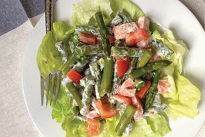 Asparagus and tomato salad recipe