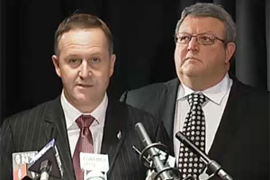 John Key and Gerry Brownlee