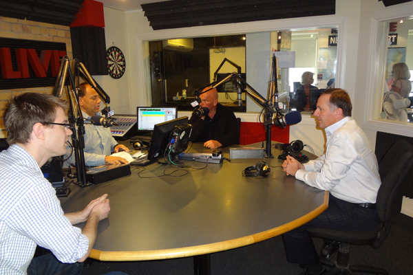 Willie Jackosn, Rodney Hide and John Key at RadioLIVE