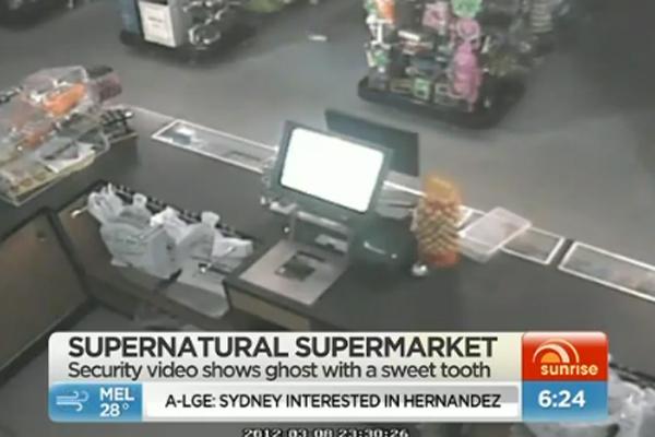 Poltergeist in supermarket