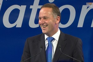 National and John Key laugh