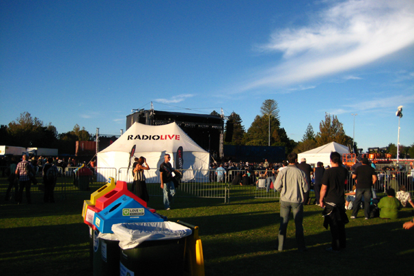 The RadioLIVE marquee at the Tauranga Jazz Festival