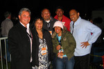 Earth, Wind and Fire competition winner Lillian Tioke and family, with Willie & JT