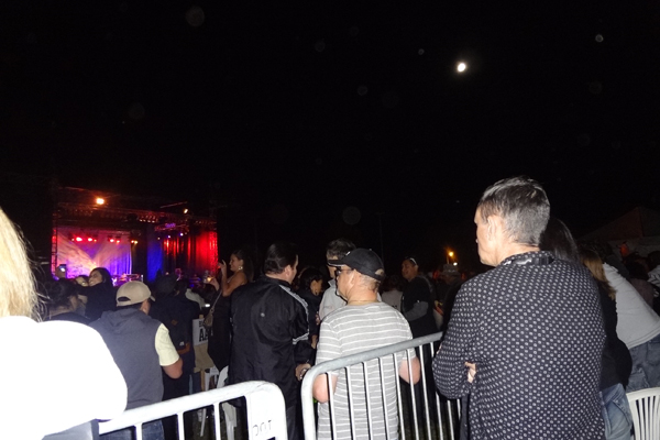 Spectators enjoy the show at the Tauranga Jazz Festival