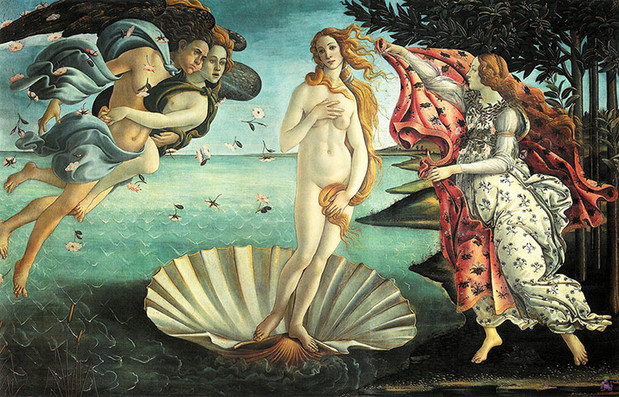 Botticelli's The Birth of Venus, featuring thighs, hips and a tummy. Photograph: Uffizi Gallery, Florence/Corbis