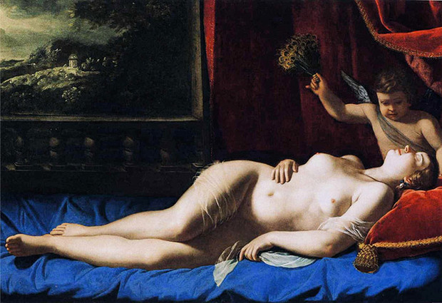 Artemisia Gentileschi: The Sleeping Venus. Photograph: Barbara Piasecka Johnson Foundation, New Jersey.
