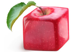 Square apple