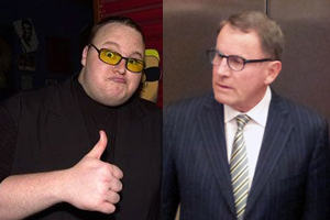 Kim Dotcom and John Banks
