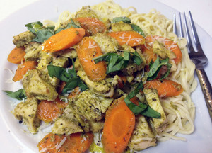 Chicken pesto spaghetti recipe