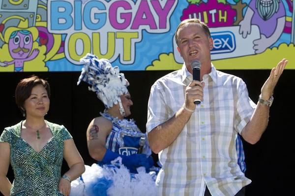 John Key at Big Gay Out