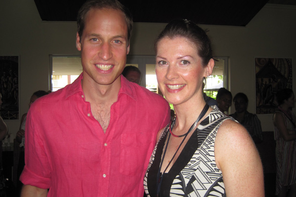 RadioLIVE reporter Lucy Warhurst and Prince William