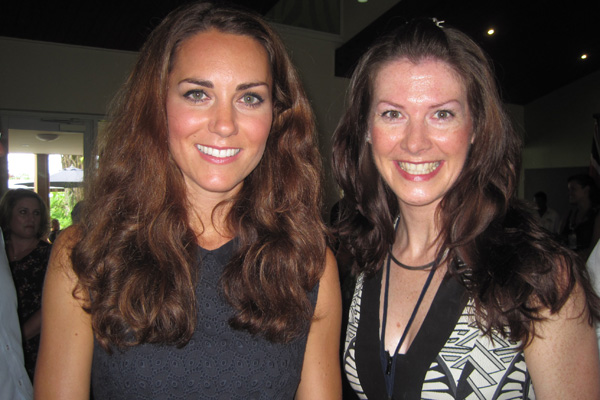 RadioLIVE reporter Lucy Warhurst and the Duchess of Cambridge Kate Middleton