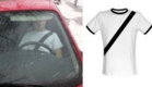 Fake seat belt shirt