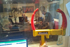 The wheel clamp itself at RadioLIVE
