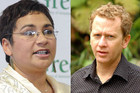 Green Party leaders Metiria Turei and Russel Norman