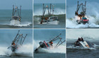 Amateur photographer Bob McAuliffe took these photos of the 15-metre trawler as she capsized