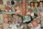 Dolls, dolls and more dolls! (Sheesh, that one bottom left will give you nightmares for a month!)