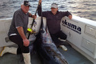 David Donald, 60, with his stand-in skipper Paul and the monster catch