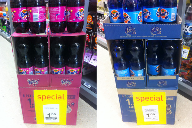 Fanta grape and blueberry on sale at Countdown
