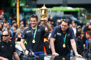 Richie McCaw and Steve Hansen