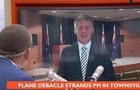bill english / plane / townsville / paul henry / waterfront stadium