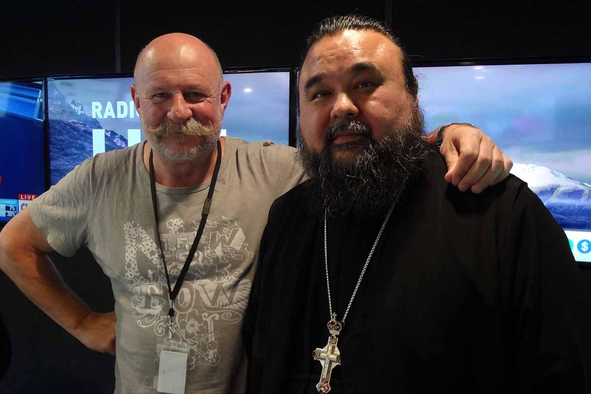 Mark Sainsbury and Rev. Vladimir Boikov