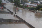 A lot of water has also hit Warspite Ave (Supplied)