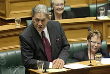 Winston Peters in Parliament