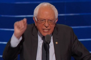 Bernie Sanders at the Democratic convention
