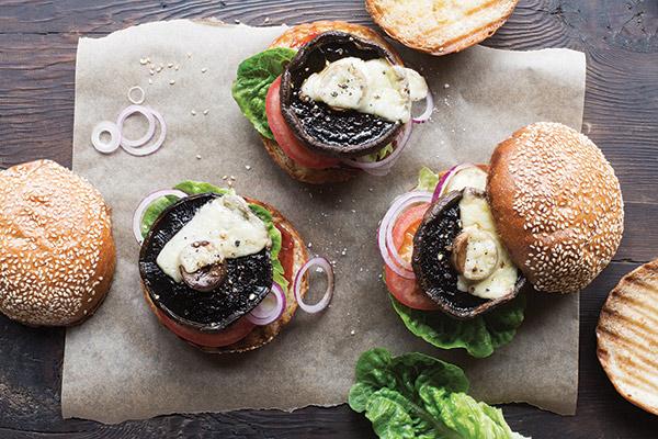 Portobello / mushroom / burger