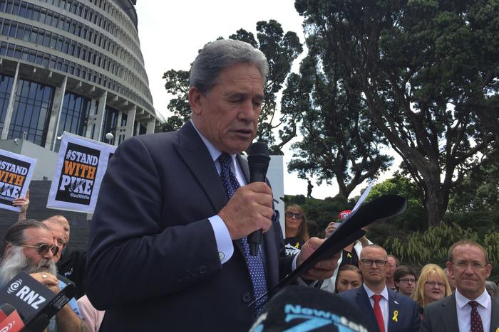 winston peters / pike river / nz first