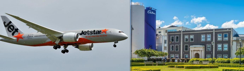 jetstar / cadbury / winston peters