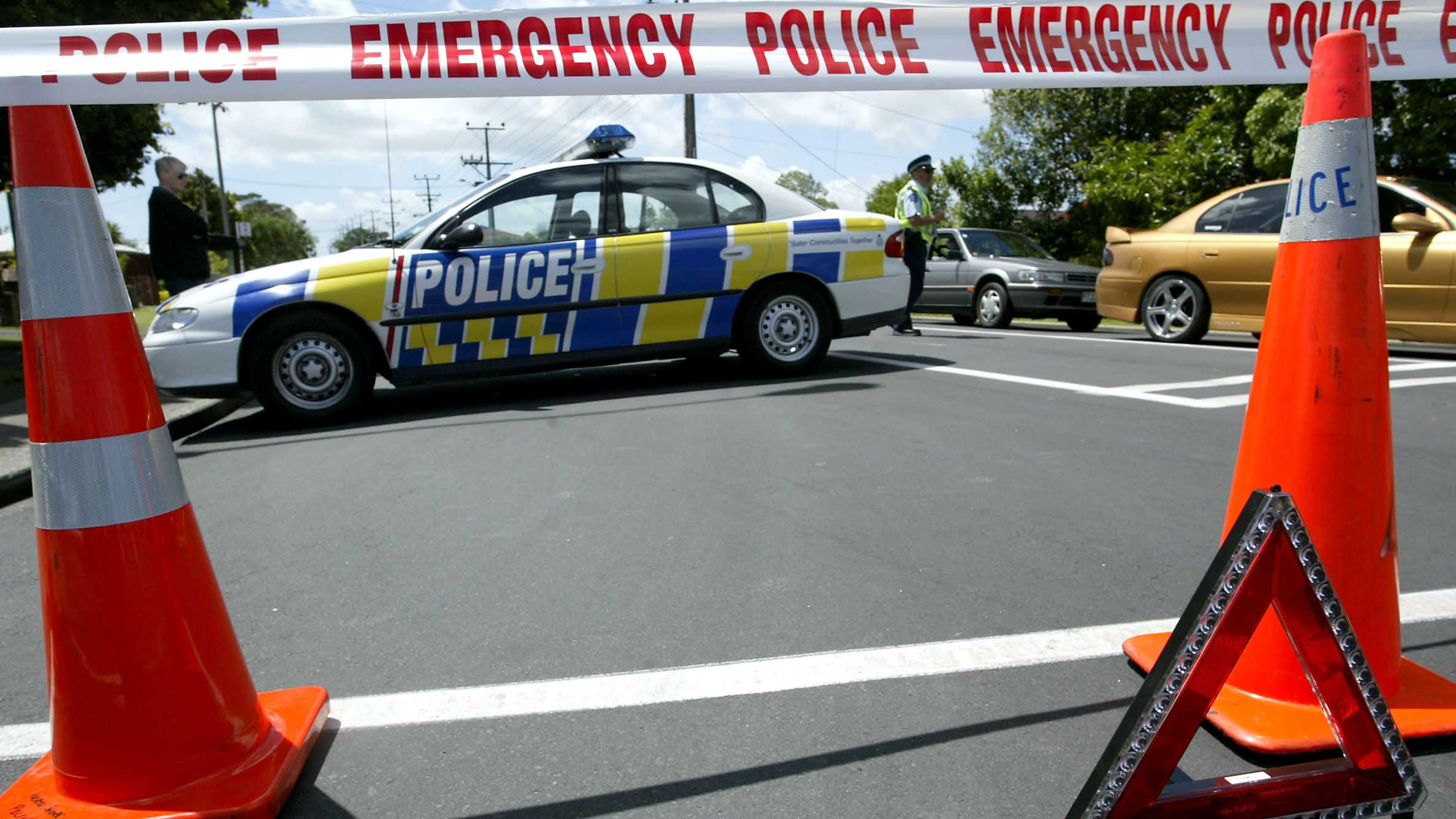 Police attend a car accident (Getty)