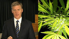 Prime Minister Bill English says 'we're not going to be legalising [cannabis]'.